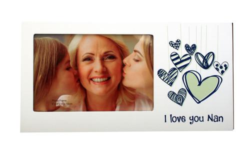 I Love You Nan Heart Photo Frame