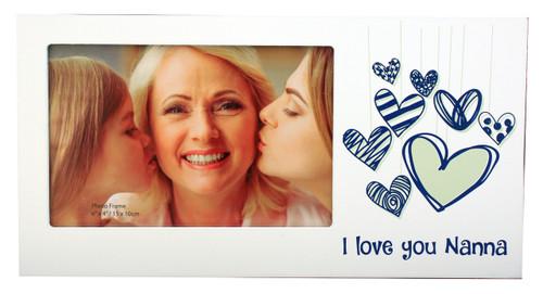 I Love You Nanna Heart Photo Frame