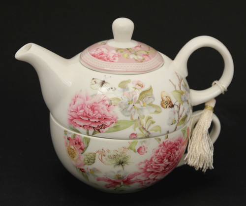Rose Teapot and Cup