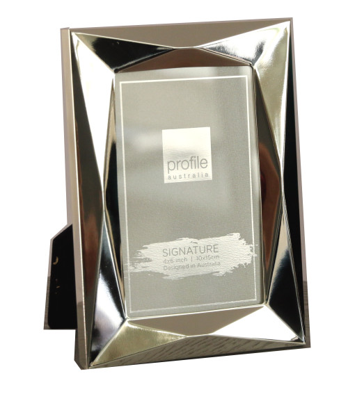 Silver Plated Romanzo 4 x 6 in Photo Frame