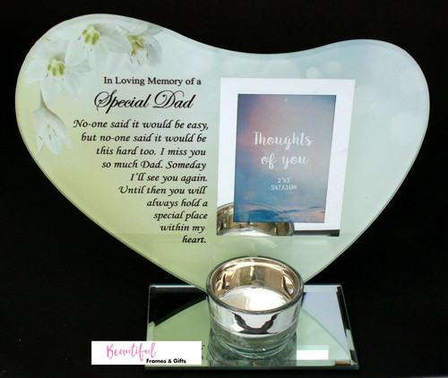 Special Dad Memorial Tea Light Candle