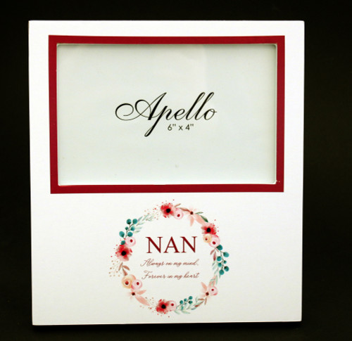 Nan White Photo Frame