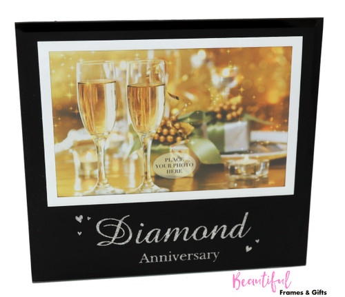 60th Diamond Wedding Anniversary Photo Frame