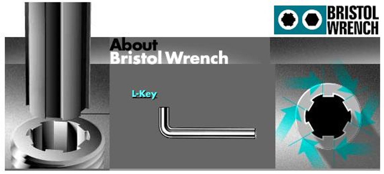Bristol S-048-4 L spline wrench