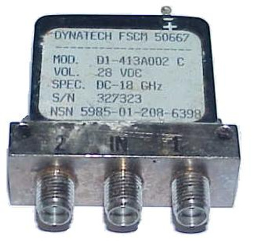 Dynatech D1-413A002 - SPDT Coaxial Switch