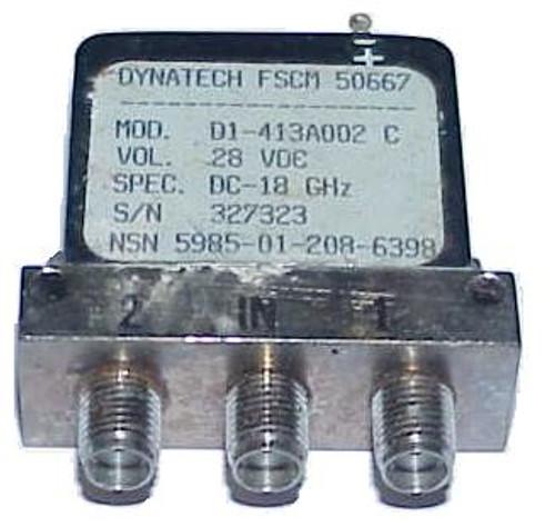 Dynatech D1-413A002 - SPDT Coaxial Switch