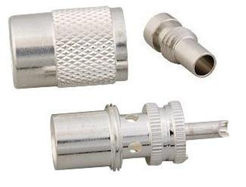 Silver-Teflon PL-259 Coaxial Connector for RG-58 & LMR195