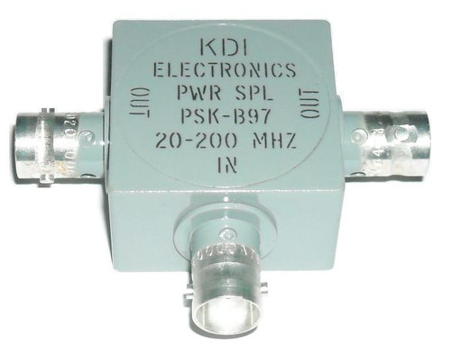 KDI PSK-B97 - 2-Way Power Divider 20-200 MHz