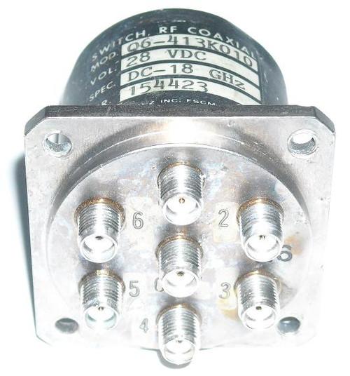 Dynatech Q6-413K010 - SP6T Coaxial Switch