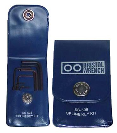 Bristol SS-508 Spline Key Wrench Set for Hallicrafters