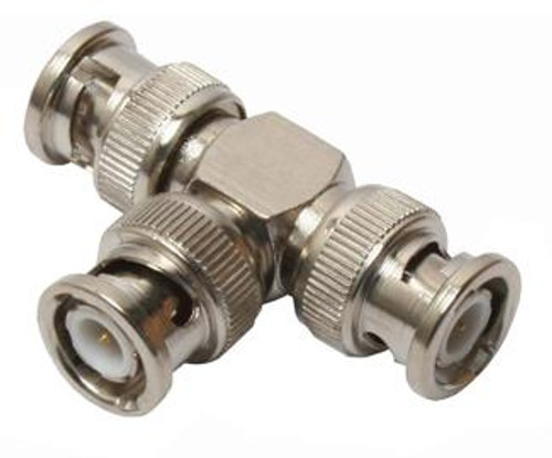 BNC All Male Tee 'T' Coaxial Adapter BNC-7376