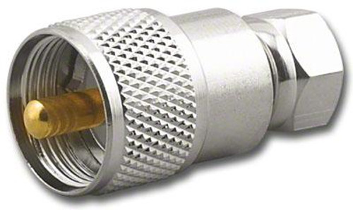 PL-259 UHF-Male to F-Male Coaxial Adapter RFA-8174
