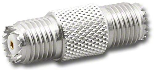 Mini-UHF Double Female Barrel Coaxial Adapter