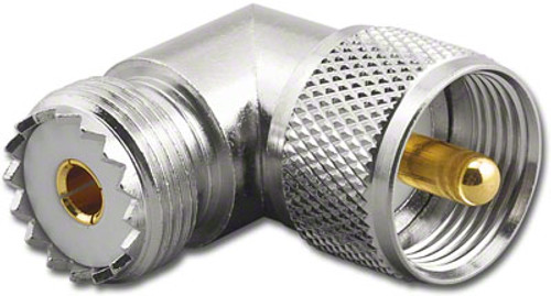 UHF Elbow Coaxial Adapter SO239 to PL259