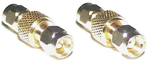 RP-SMA Plug to SMA-Male Barrel Coaxial Adapter