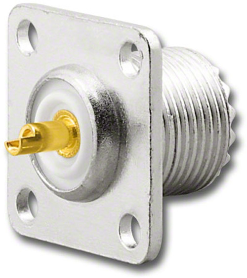 SO-239 Panel Mount UHF-Female Coaxial Connector UHF-7603