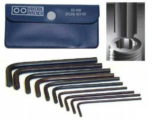 Bristol SS408 Spline Wrench Set for Military Radio Repair SS-408-ML