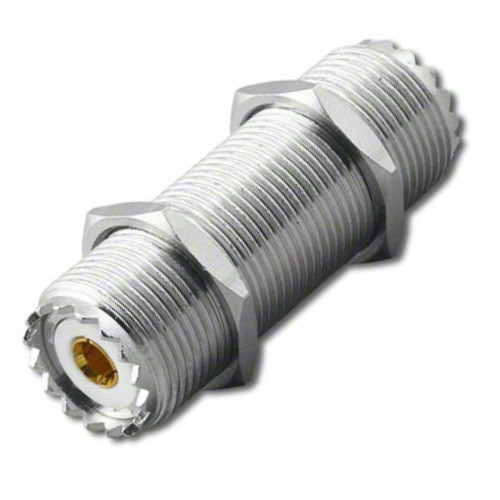 "10"" Long - UHF Double Female Bulkhead SO-239 Connector"