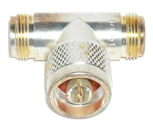 Mil-Spec Grade Type N Female Male Female Coaxial Adapter Tee