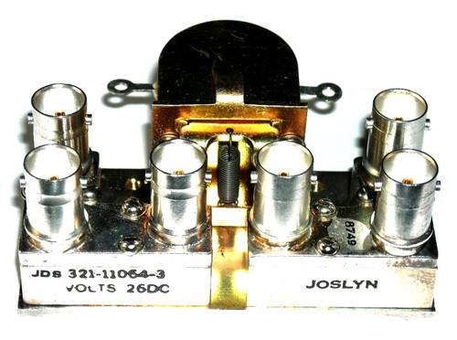 Amphenol 321-11064-3 - DPDT RF Coaxial Relay - BNC Connectors