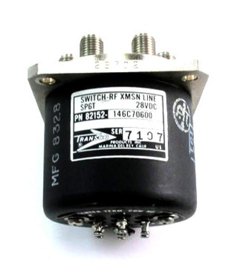 Transco 146C70600   RF Coaxial Switch   SP6T   DC-18 GHz   28 VDC