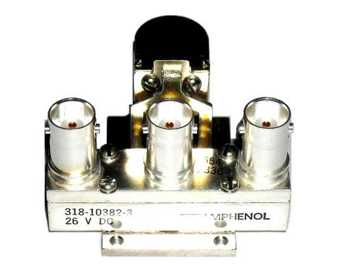 Amphenol 318-10382-3 - SPDT RF Coaxial Relay - 26 VDC