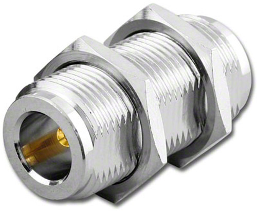 2-Inch - Type N Double Female Bulkhead Connector - TPS-7323-2