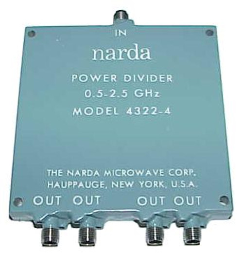 Narda Microwave 4-Way Wilkinson Power Divider 4322-4
