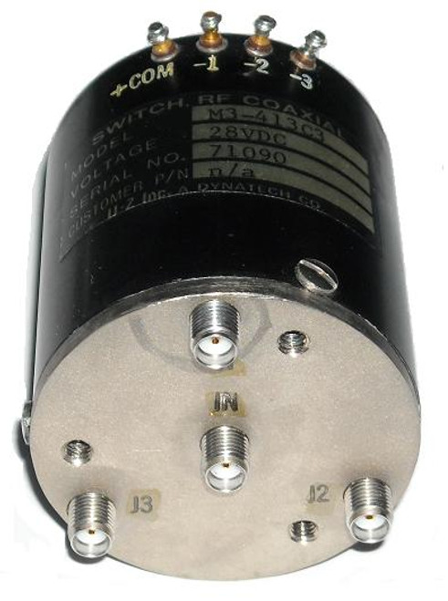 Dynatech SP3T RF Coaxial Switch Relay DC-12.4 GHz 28VDC