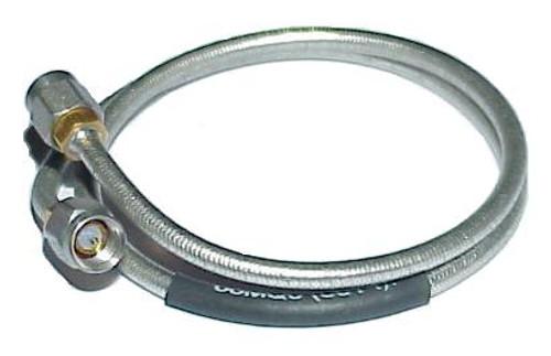 """18"""" Long - Tensolite SMA-Male to SMA-Male Semi-Flex Coax Cable RG-402"""