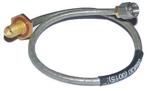 """10"""" Long -Tensolite SMA-Female to SMA-Male Semi-Flex Coax Cable RG-402"""