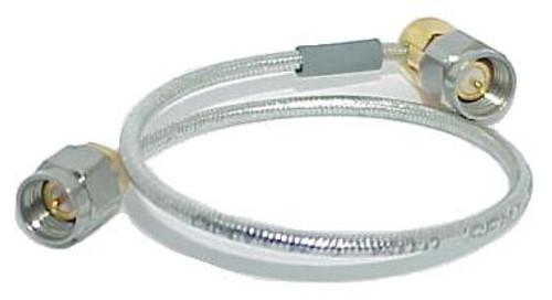 "7"" Long - SMA Male to SMA-Male Elbow RG-405 Semiflex Coax Cable"