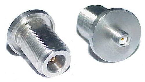 SMA-Female to N Female Bulkhead Coaxial Adapter Connector