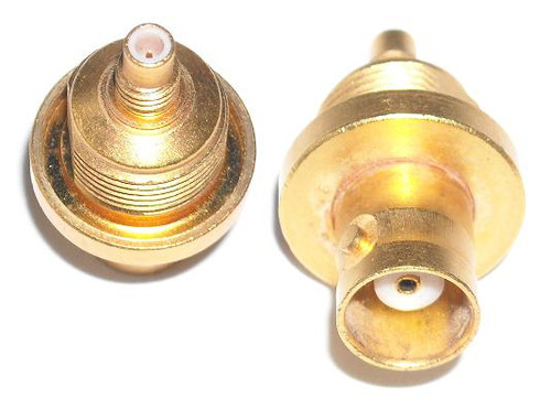 SMC-Jack to BNC-Female Coaxial Adapter Connector