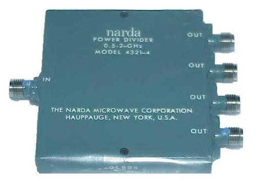 Narda Microwave 4321-4 Wilkinson Power Divider | 4-Way
