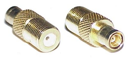 F Female to SMB Plug Coaxial Adapter Connector