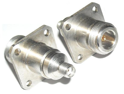 Americon SMA-Female to N-Female Coaxial Adapter Connector