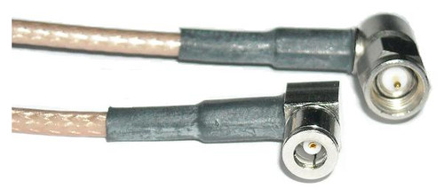 """14"""" Long - Astrolab RG-316 - SMA-Male to SMB-Plug Coaxial Cable"""