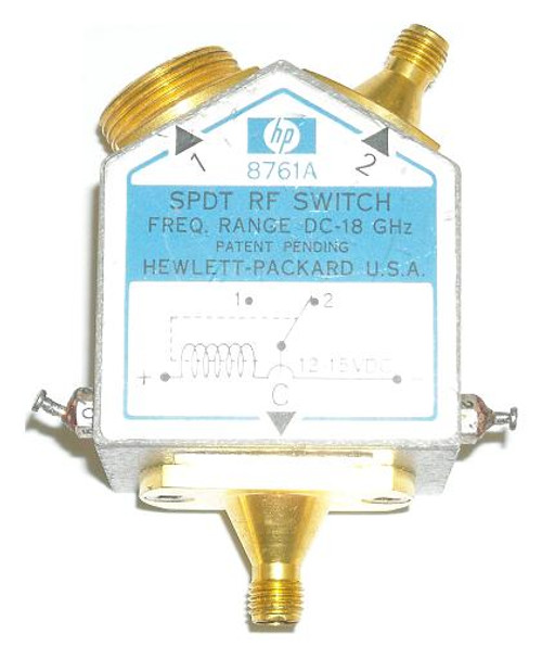 HP Agilent 8761A SPDT Coaxial Switch RF Relay