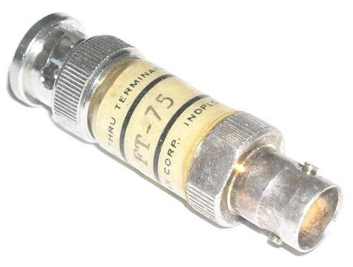 75-Ohm 2-Watt BNC Coaxial Feed-Thru Termination