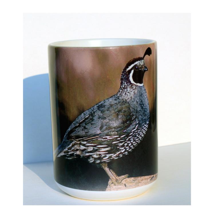 Quail Large Coffee Mug 15 Oz.