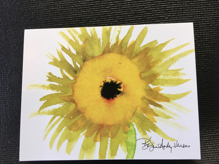 10 Sunflower  Blank Note cards