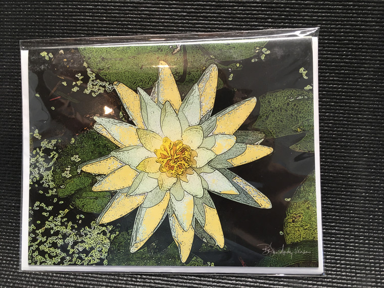 10 Yellow Water Lily Blank Note Cards