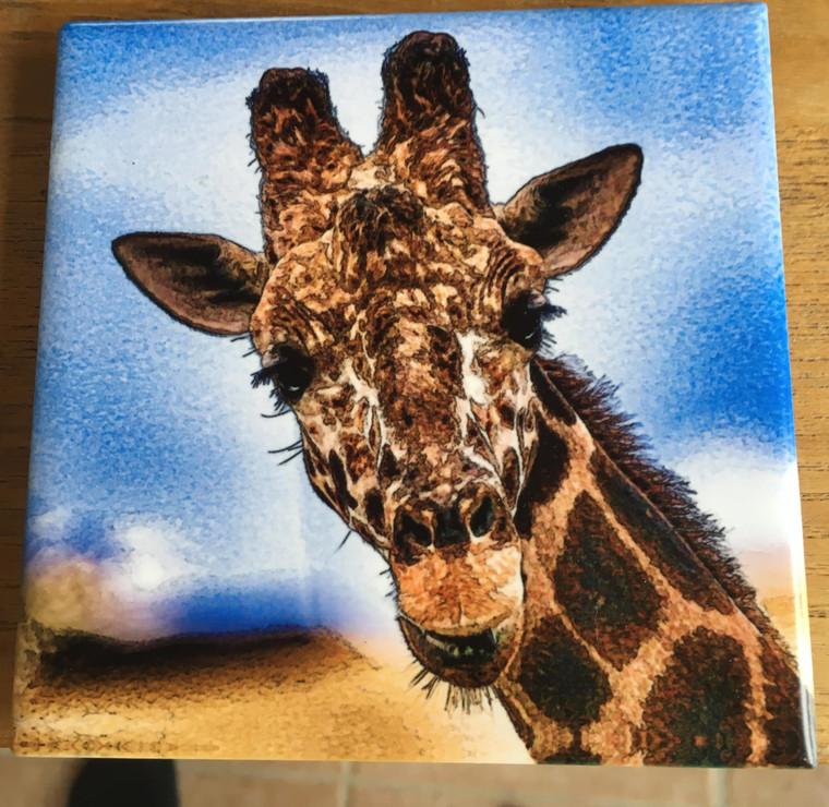 Ceramic Tile - Giraffe 4.25 in x 4.25 in