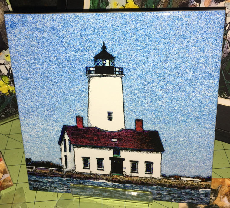 Decorative Tile - Dungeness Light 8 in x 8 in