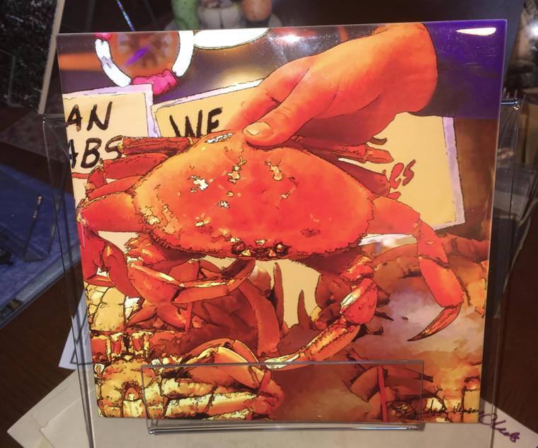 Decorative Tile - Crab 8 in x 8 in