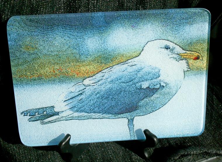 Gull  Glass Cutting Board 7.75in  x 10.75in