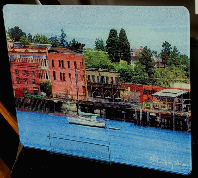 Port Townsend Harbor Glass Cutting Board 12 in x 15 in
