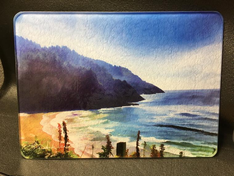 Heceta Shore Glass Cutting Board 7.75in  x 10.75in