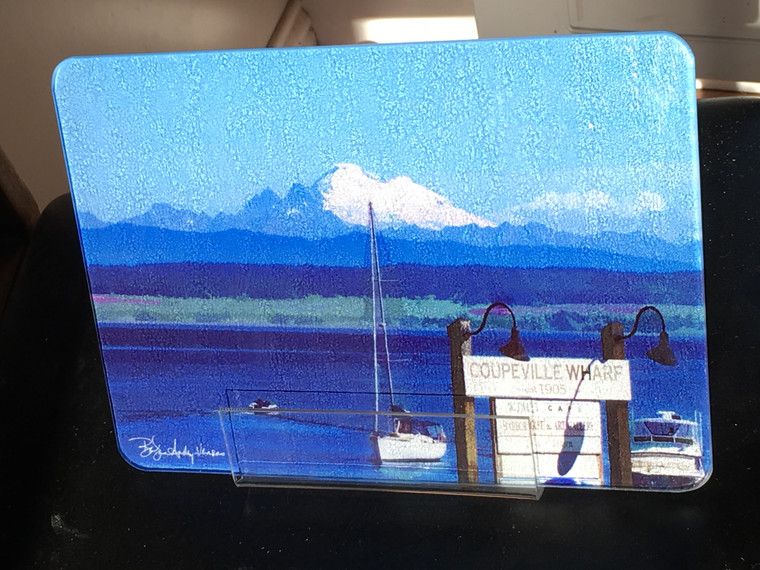Coupeville Glass Cutting Board 7.75in  x 10.75in